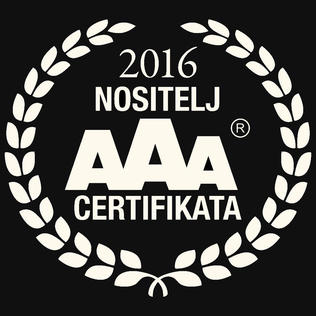 Certifikat izvrsnosti 2016